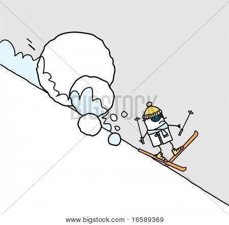 skier & avalanche