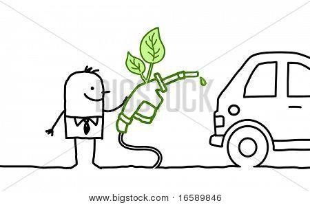 man & bio-fuel