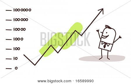 businessman & stock market success