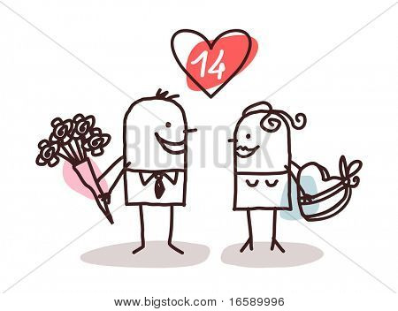 couple and Valentine gifts