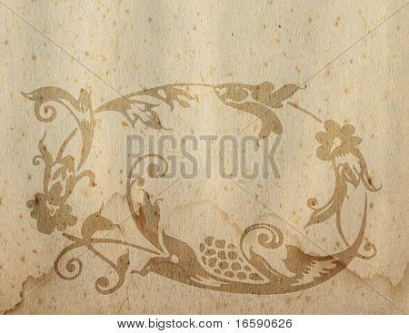 floral design on scarp paper