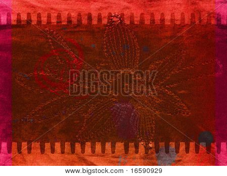 design of a film stripe with flower design