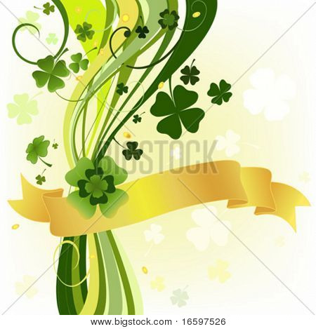 design with four and three leaf clovers