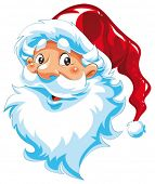 Santa Claus portrait. Funny cartoon and vector character