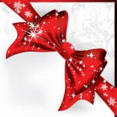 pic of brochure design  - Big red bow on a magical Christmas letter - JPG