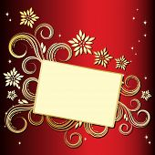 stock photo of christmas cards  - JPG Holiday floral background - JPG