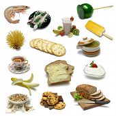 Food Sampler with clipping paths