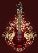 Rock guitar illustration.