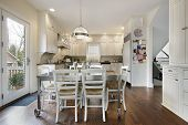 image of firehouse  - Kitchen with table and chairs - JPG