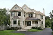 picture of residential home  - Front view of luxury home - JPG