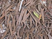 image of bric-a-brac  - rusty old scissors at the daily market in Rangoon - JPG