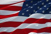 stock photo of waving american flag  - American flag background - JPG