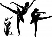 stock photo of ballet shoes  - Ballet Vector Silhouettes - JPG