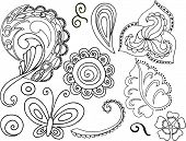 Fun Paisley Vector Elements