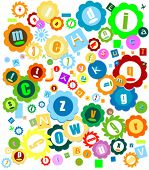 stock photo of nouns  - very colorful alphabet for kids - JPG