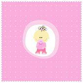 image of newborn baby  - sweet baby girl - JPG