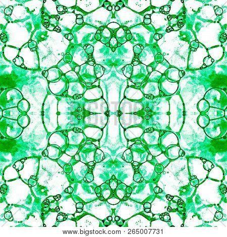 Green Seamless Pattern Amazing Delicate