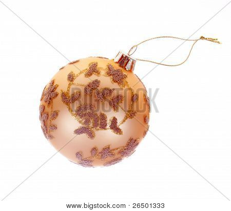 Christmas Tree Bauble with clipping path