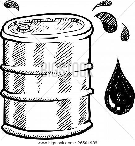 Oil barrel illustration