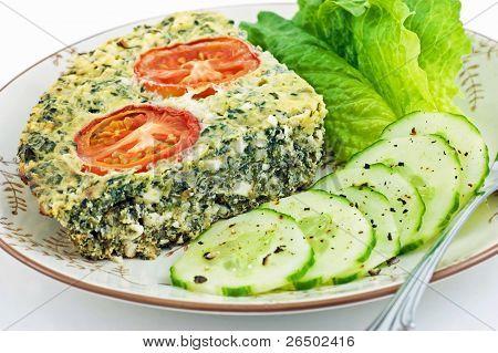 Spinach And Feta Cheese Quiche