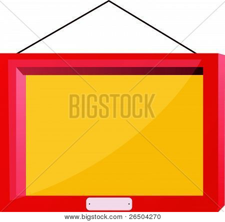 Vector Image Of The Red Frame With Glass
