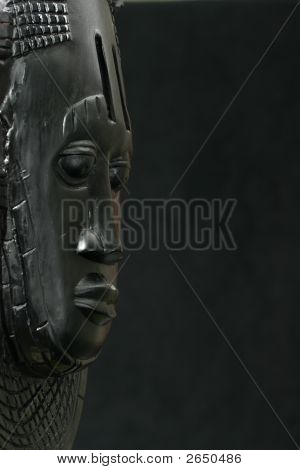 Side View Of African Tribal Mask