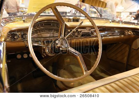 Interior Of The 1958 Oldsmobile