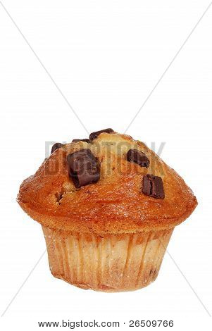 Isolated banana chocolate muffin