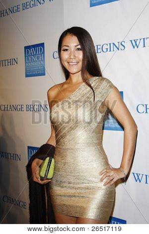 LOS ANGELES, CA - DEC 3: Diana Wu at the 3rd Annual 'Change Begins Within' Benefit Celebration presented by The David Lynch Foundation held at LACMA on December 3, 2011 in Los Angeles, California