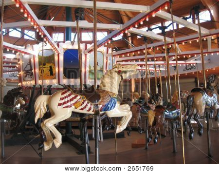 Vintage White Carousel Horse