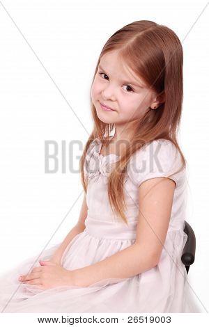 festively dressed little girl