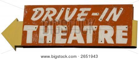 Drive In Theatre Sign Cut Out