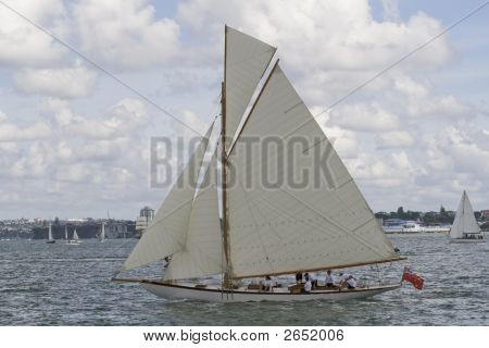 A Class Classic Gaff Rigged Yacht