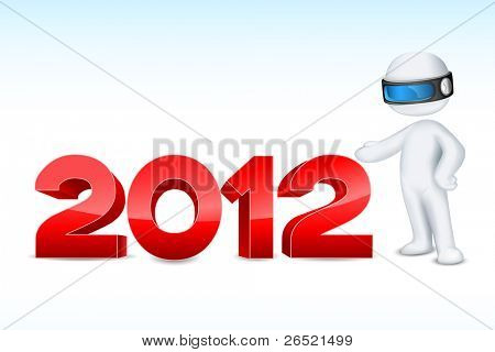 illustration of 3d man in vector fully scalable showing 2012