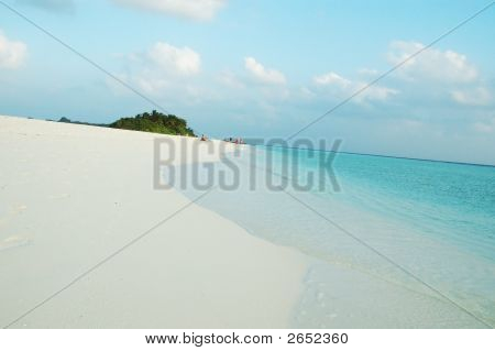 Beach of Kuramathi Island Maldives