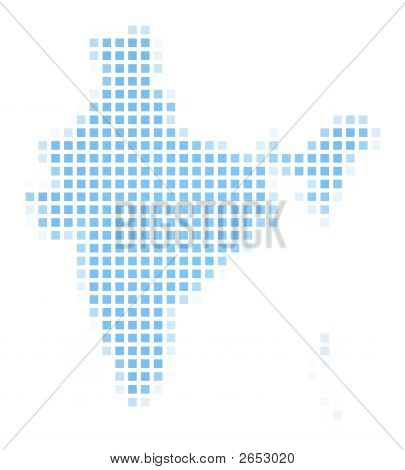 India Map Square Mosaic