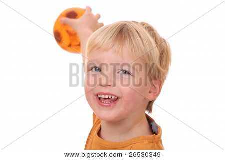 Ball playing Boy