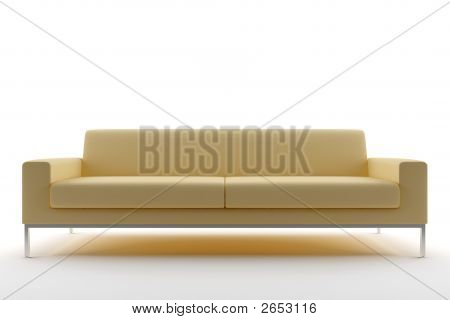 Beige Sofa Isolated