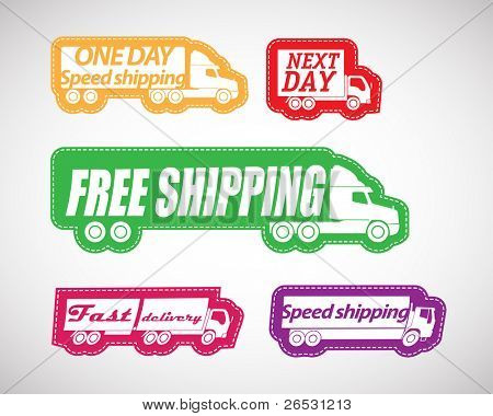 Fast delivery vector stickers collection