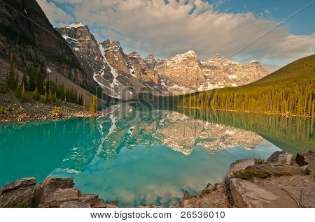 Sunrise Of Moraine Lake