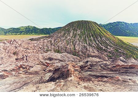 Batok volcano at day time. Java. Indonesia