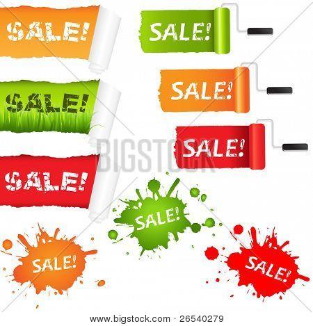 Set Sale Paper Elements