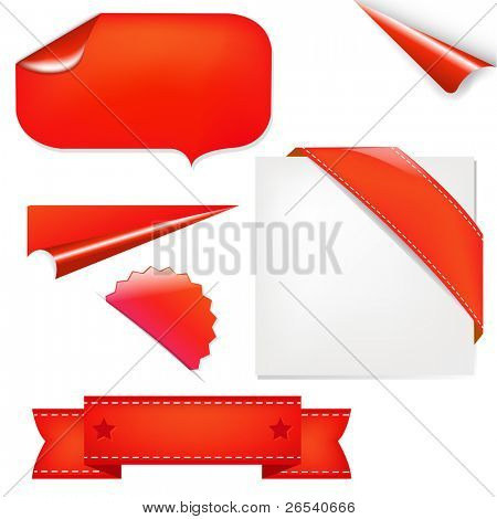 Rote Gruppe, isolated on white Background, Vector illustration