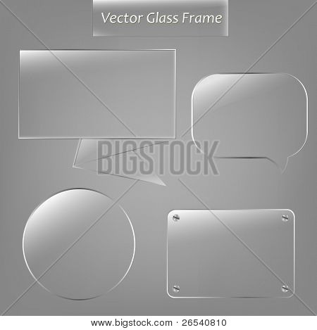 4 Glass Framework, Vector Illustration
