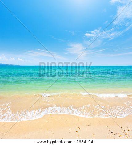 Постер, плакат: пляж и тропические моря Кох Самуи Таиланд, холст на подрамнике