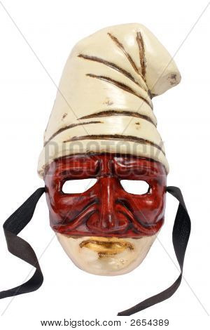 Venetian Mask Isolated On White