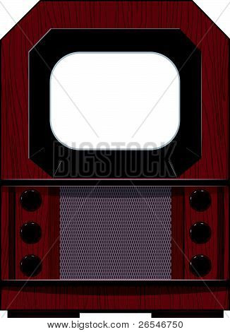 Vector Artwork Old Tv