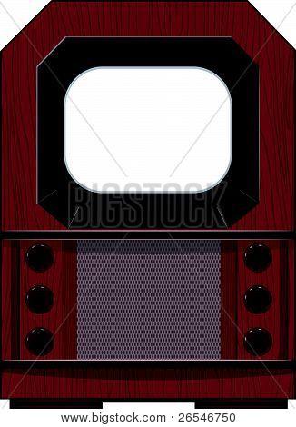 Vector Artwork Old Tv