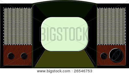 Vector Artwork Will Old Tv