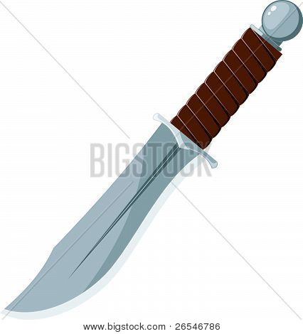Vector Illustration Of A Sharp Knife